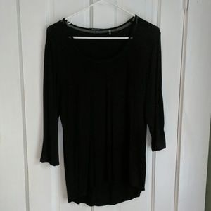Tahari black tunic, size m